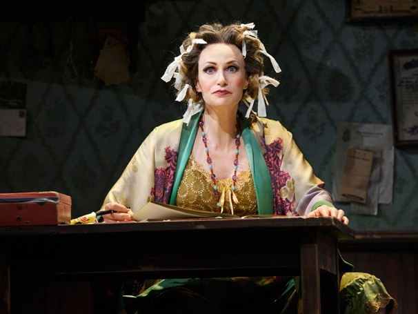 See Jane Lynch Ham it Up as Miss Hannigan in New Photos of Annie on Broadway