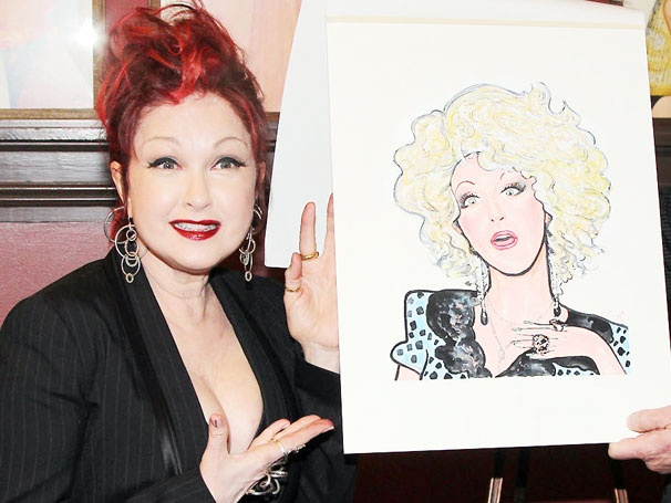 Sardi's Says Yeah to Cyndi Lauper! The Kinky Boots Composer Celebrates Colorful Caricature