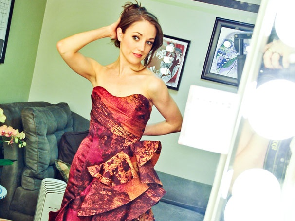 Photo Exclusive! Cinderella Star Laura Osnes Teams Up with Fashion Royalty For Her Tony Night Dress