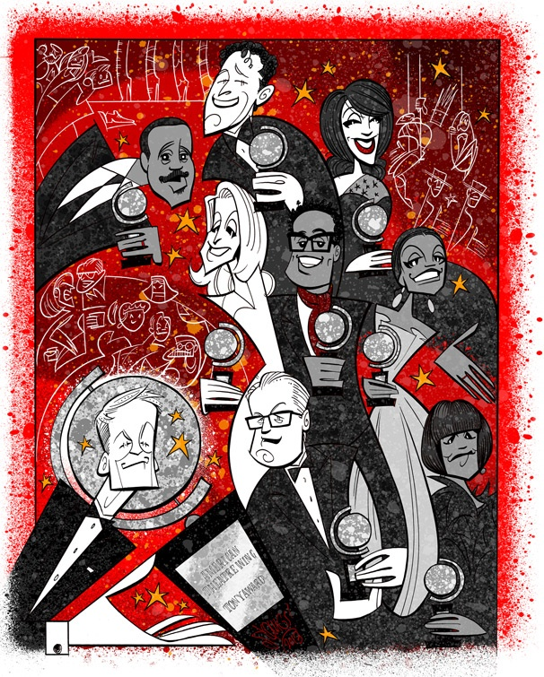 Squigs Pens a Super-Sized Portrait of Neil Patrick Harris and the 2013 Tony Winners