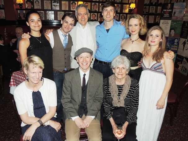 The Cast of Off-Broadway's The Silver Cord Celebrates Opening Night at Sardi's