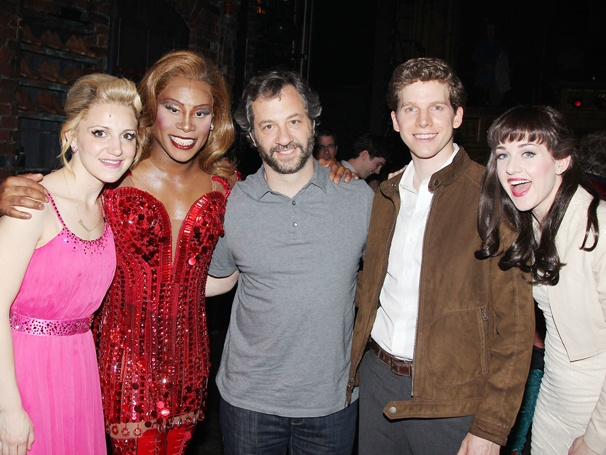 Judd Apatow, Leslie Mann & Daughters Enjoy a Kinky Afternoon on Broadway
