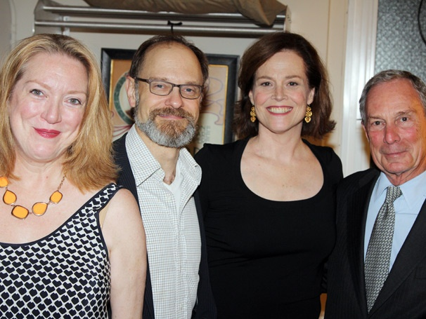 Tony Honoree Mayor Bloomberg Visits Tony-Winning Comedy Vanya and Sonia and Masha and Spike