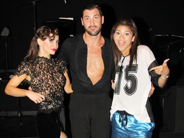DWTS Runner-Up Zendaya Cuts a Rug with Forever Tango's Maksim Chmerkovskiy & Karina Smirnoff