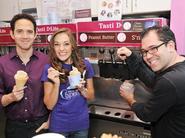 Laura Osnes, Santino Fontana & Andy Einhorn Unveil New Cinderella-Centric Frozen Yogurt