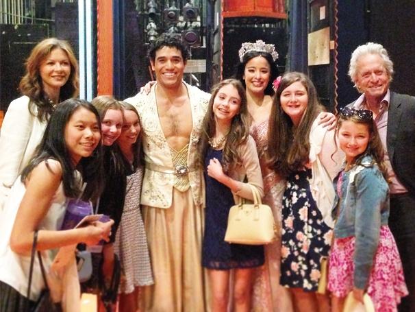 Exclusive! Catherine Zeta-Jones & Michael Douglas Go on a Magic Carpet Ride at Broadway's Aladdin | Broadway Buzz | Broadway.com