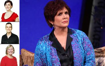 Word of Mouth Critics Ellen, Tom & Maggie Spend Time with Carrie Fisher and Her Demons