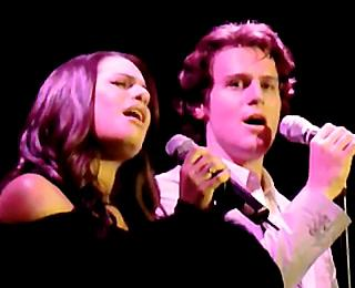 Lea Michele and Jonathan Groff Perform a Special Musical Mash-up for Charity