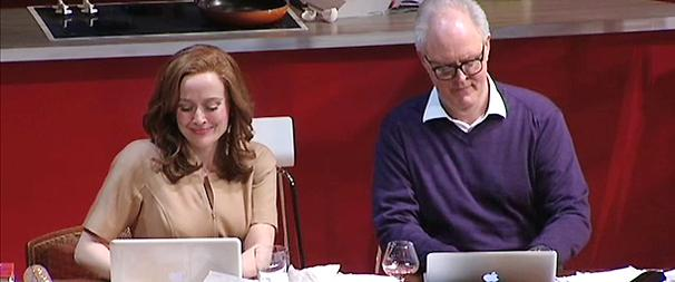 John Lithgow and Jennifer Ehle Gossip Off-Broadway as Mr. and Mrs. Fitch