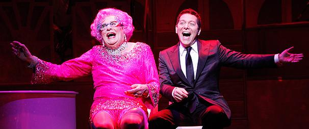 All About Dame Edna and Michael Feinstein's Smashing Opening Night