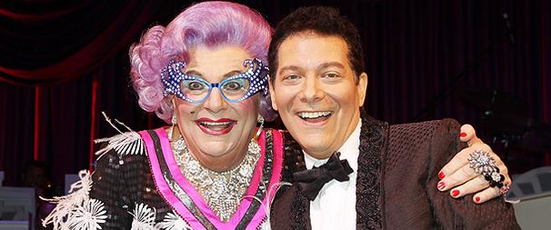 Dame Edna and Michael Feinstein, Broadway's New Odd Couple, Open in All About Me