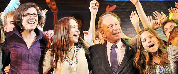 Mayor Bloomberg Lets the Sun Shine In (and Boogies Onstage) at Hair