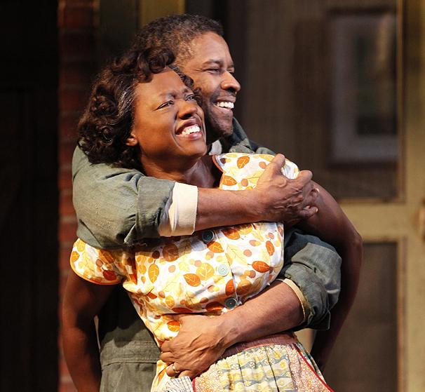 Exclusive! A First Look at Denzel Washington and Viola Davis On Stage in Fences