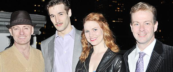 The Cast of The 39 Steps Laughs it Up at Off-Broadway Opening