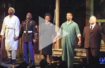 Building Fences on Broadway with Denzel, Viola and Opening Night Guests