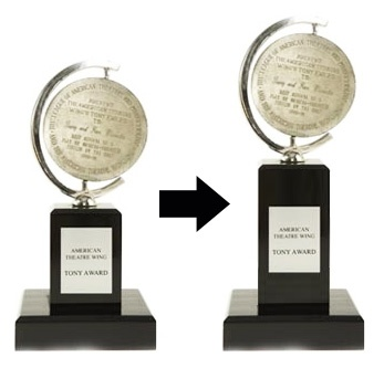 Is Bigger Better? Tony Award Gains a Couple Inches