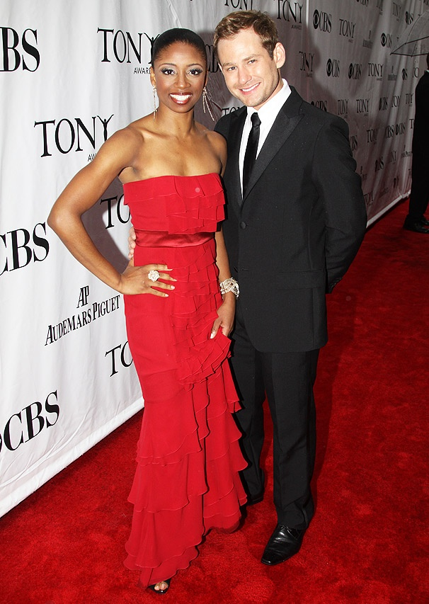 Memphis Lovers Montego Glover and Chad Kimball Look Red Hot on Arrival