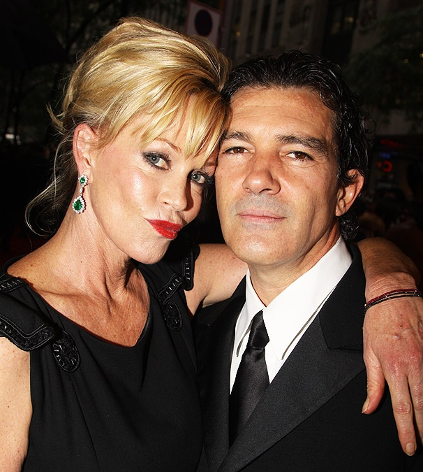 Antonio Banderas and Melanie Griffith Pucker Up at Radio City