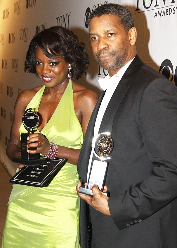 Fences Stars Viola Davis & Denzel Washington Win 2010 Tony Awards