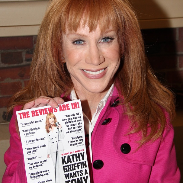 The 'Reviews' Are In! Kathy Griffin Peddles Her Broadway Tony Bid