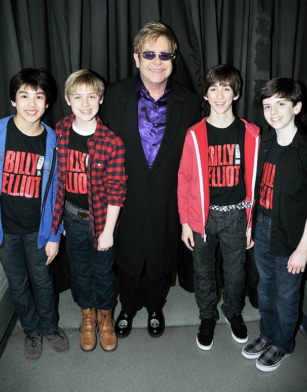 Hot Shot! Broadways Billy Elliot Stars Go Backstage with Elton John