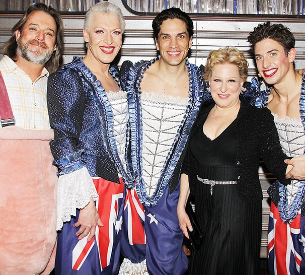 Exclusive! Priscilla Producer Bette Midler Congratulates the Stars of the Glitzy Musical Backstage on Opening Night