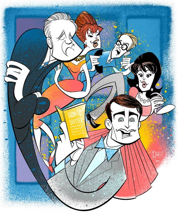 Squigs Salutes Daniel Radcliffe and the Stars of How to Succeed