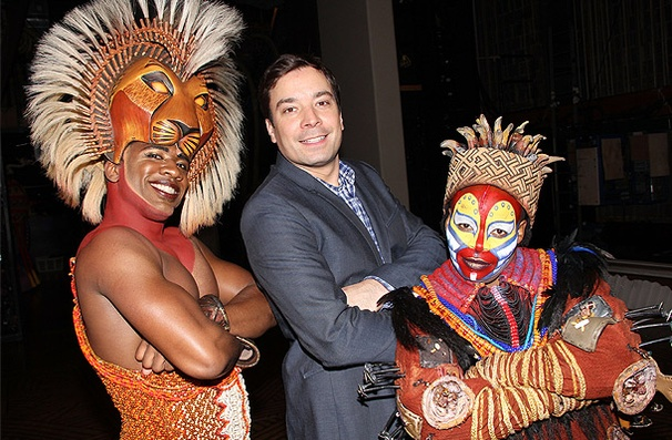 Jimmy Fallon and Yankees Pitcher C.C. Sabathia Go Wild at The Lion King