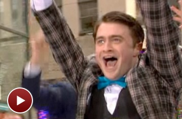 How to Succeed Star Daniel Radcliffe Wakes Up The Today Show with 'Brotherhood of Man'