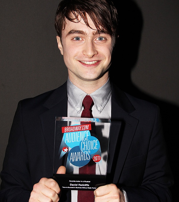 How to Succeed Star Daniel Radcliffe Shows Off His Broadway.com Audience Choice Award