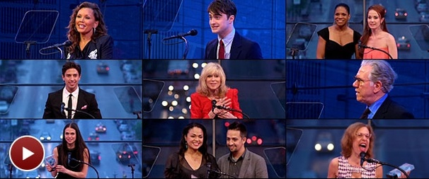 Vanessa Williams! Daniel Radcliffe! Trophies! Watch the 2011 Broadway.com Audience Choice Awards