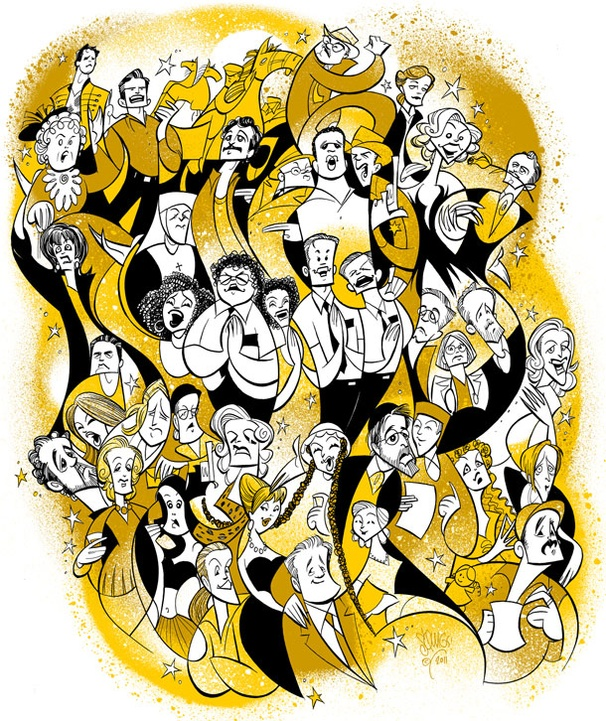 Squigs Salutes Every 2011 Tony Nominee in an Epic Drawing!
