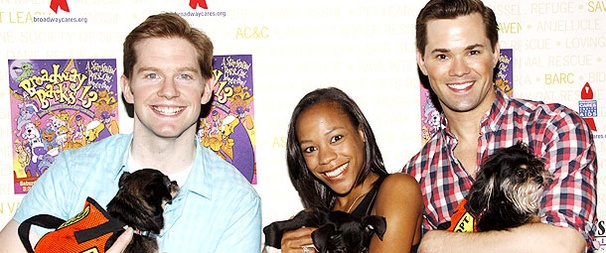 Puppy Love! Aaron Tveit, Andrew Rannells, Bernadette Peters and More Support Broadway Barks