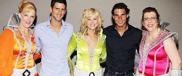 Tennis Champs Rafael Nadal and Novak Djokovic Feel the ABBA Beat at Mamma Mia!