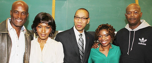 The Mountaintop's Samuel L. Jackson and Angela Bassett Pay a Surprise Visit to Brooklyn High School of the Arts