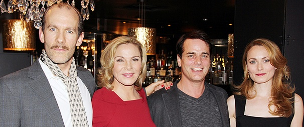 Kim Cattrall, Paul Gross and the Cast of Private Lives Meet the Press