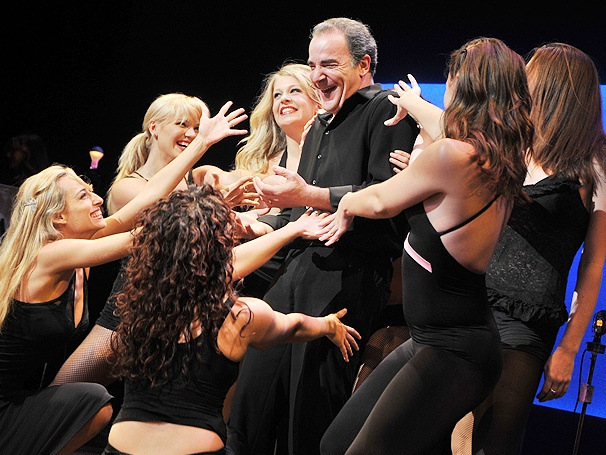 Surprise! A Lineup of Leggy Dancers Serenades Mandy Patinkin on His Birthday