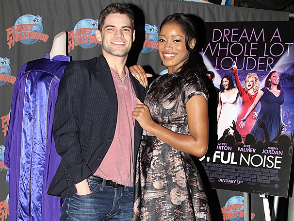 Newsies Star Jeremy Jordan and Keke Palmer Celebrate Joyful Noise at Planet Hollywood