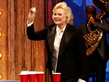 Watch The Best Man's Candice Bergen Play Beer Pong with Jimmy Fallon on Late Night