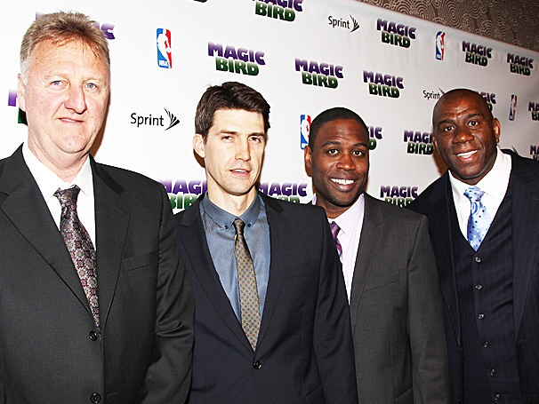Broadway Buzz: Hoop Dreams Come True! Magic Johnson, Larry Bird and the Cast of Magic/Bird Score Big on Opening Night