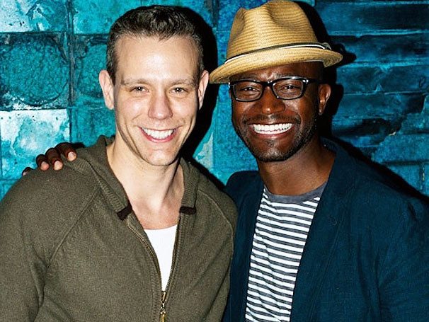 Taye Diggs Heads to Memphis to Cheer on Rent Pal Adam Pascal