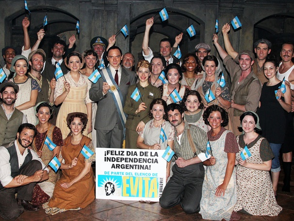 Elena Roger, Michael Cerveris and the Cast of Evita Celebrate Argentinas Independence
