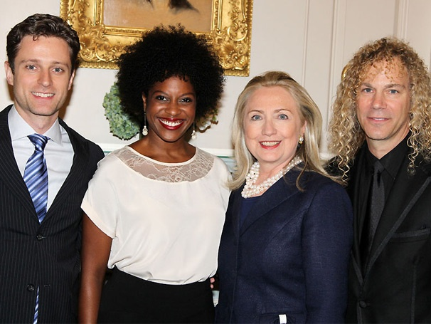 Memphis Composer David Bryan Makes a Special Presentation to Secretary of State Hillary Clinton