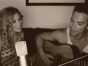Ghost Unplugged! Watch Caissie Levy & Richard Fleeshman Deliver an Acoustic Version of 'Here Right Now'