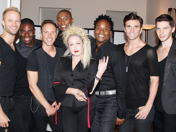 Kinky Boots' Cyndi Lauper and Billy Porter Serve Up Sexy Rock at Fashion's Night Out
