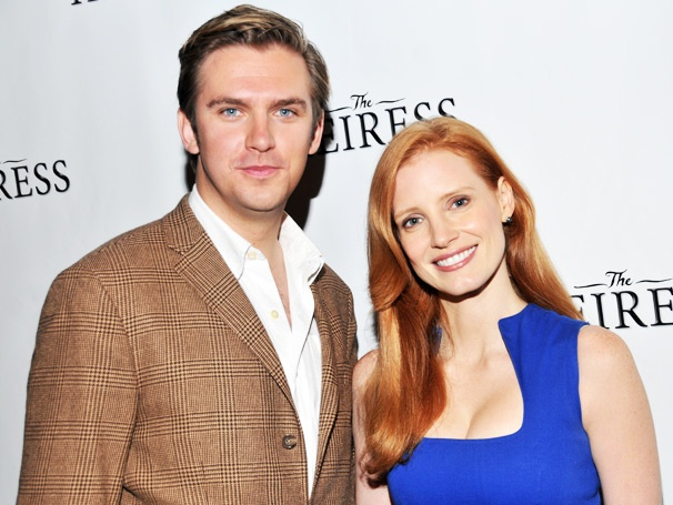 Jessica Chastain and Downton Abbey's Dan Stevens Make Broadway Debuts as The Heiress Begins Performances