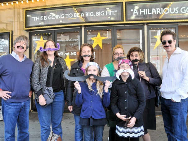 Matthew Saldivar & Dave Barry Celebrate 'Stache Day' at Peter and the Starcatcher