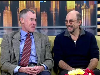 John C. McGinley & Richard Schiff Discuss the Onstage 'Knife Fights' Going Down at Glengarry Glen Ross 