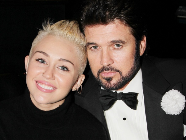 Billy Ray Cyrus Welcomes Pop Star Daughter Miley Cyrus & Family to Chicago 