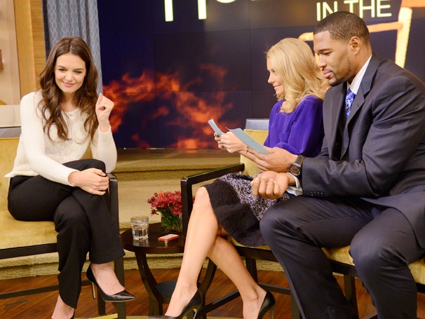 Dawson or Pacey? Katie Holmes Gets Grilled in the Hot Seat on Live With Kelly and Michael